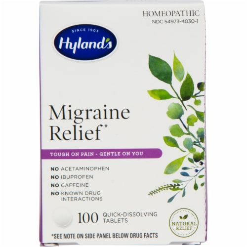 Hyland's Homeopathic Migraine Relief Quick-Dissolving Tablets Perspective: front