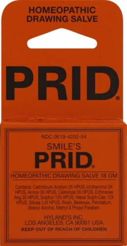 Prid Homeopathic Drawing Salve Perspective: front