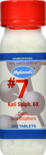 Hyland's Homeopathic #7 Kali Sulphuricum 6X Tablets Perspective: front