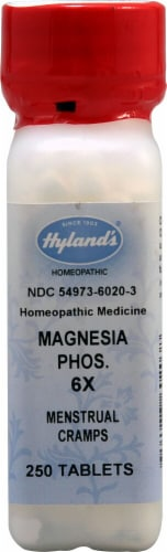 Hyland's  Homeopathic Medicine Magnesia Phos. 6X Perspective: front
