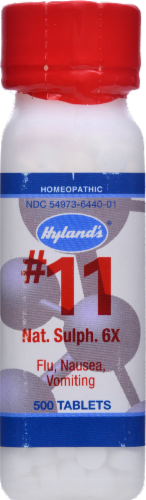 Hyland's Homeopathic #11 Natrum Sulphuricum 6X Tablets Perspective: front