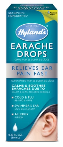 Hyland's Homeopathic Earache Drops Perspective: front