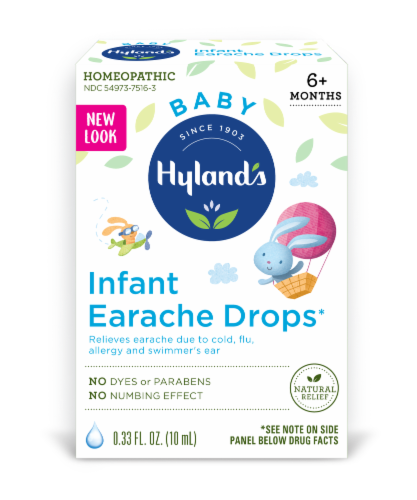 Hyland's Baby Homeopathic Infant Earache Drops Perspective: front