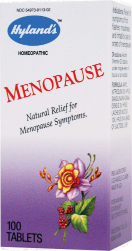 Hyland's Homeopathic Relief for Menopause Symptoms Perspective: front