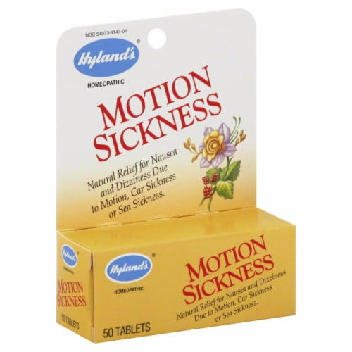 Hyland's Homeopathic Motion Sickness Tablets Perspective: front