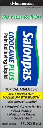 Salonpas Lidocaine Plus Pain Relieving Liquid Perspective: front