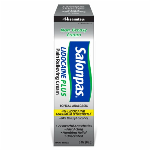 Salonpas Lidocaine Plus Pain Reiieving Cream Perspective: front