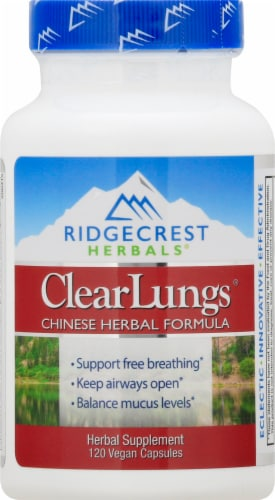 Ridgecrest Herbals Clearlungs Capsules Perspective: front