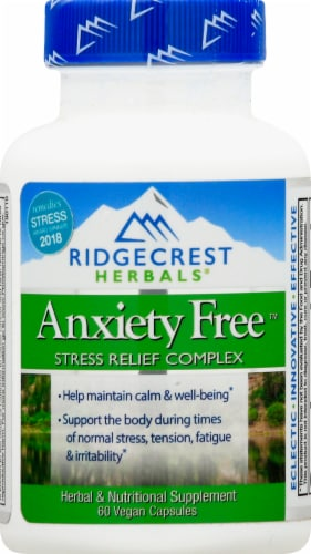 Ridgecrest Herbals Anxiety Free Capsules Perspective: front