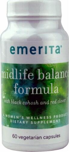 Emerita Midlife Balance Formula Vegetarian Capsules Perspective: front
