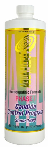Aqua Flora Phase 1 Candida Control Program Homeopathic Formula Perspective: front