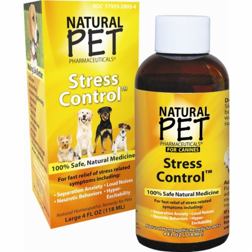 King Bio Natural Pet Anxiety & Stress For Canines Large, 4 Ounces Perspective: front
