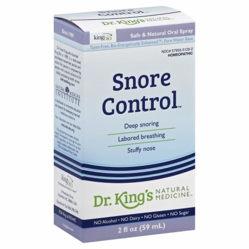 Dr. King's Natural Medicine Snore Control Oral Spray Perspective: front