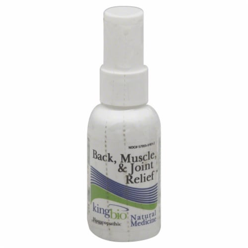 King Bio Homeopathic Back Muscle & Joint Relief Spray Perspective: front