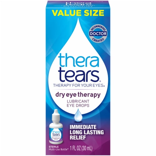 TheraTears Lubricant Eye Drops Value Size Perspective: front