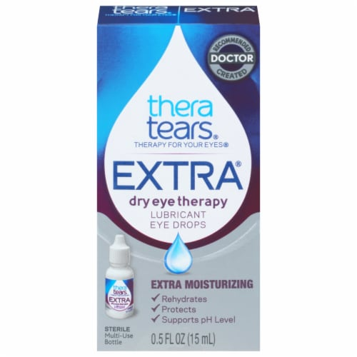 Thera Tears Extra Dry Eye Therapy Lubricant Eye Drops Perspective: front