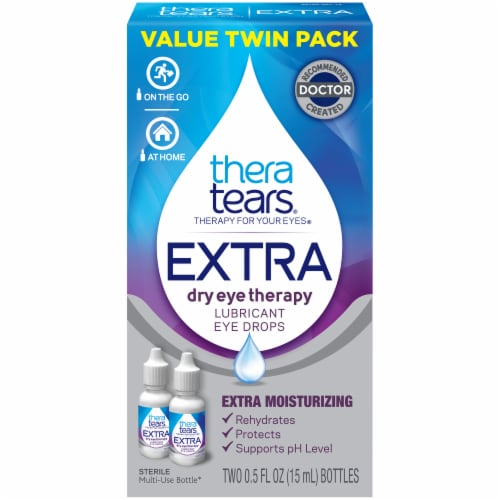 TheraTears Extra Dry Eye Therapy Lubricant Eye Drops Perspective: front