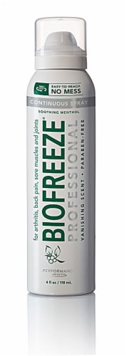 Biofreeze Cold Therapy Pain Relief Spray Perspective: front