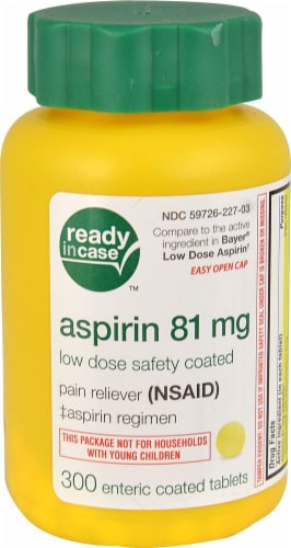 Life Extension Low Dose Aspirin Tablets 81 mg Perspective: front