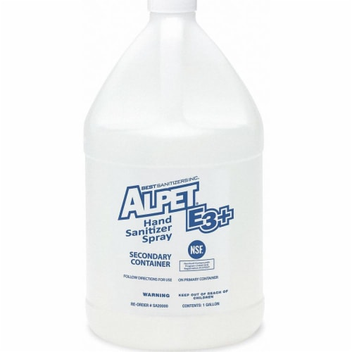 Best Sanitizers, Inc. Secondary Container,1 gal.  SA20000 Perspective: front