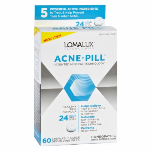 Loma Lux Laboratories Acne Pill - Chewable - Quick Dissolving - 60 Count Perspective: front