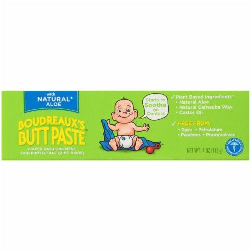 Boudreaux's Butt Paste Natural Aloe Diaper Rash Ointment Perspective: front