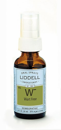 Liddell  Wart Free Homeopathic Spray Perspective: front