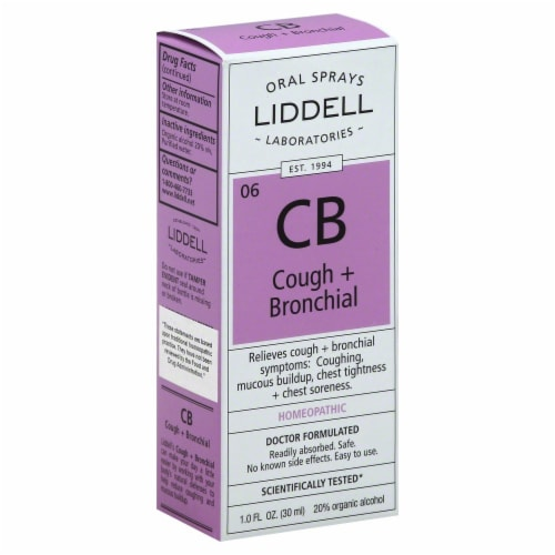 Liddell Laboratories Cough & Bronchial Spray Perspective: front