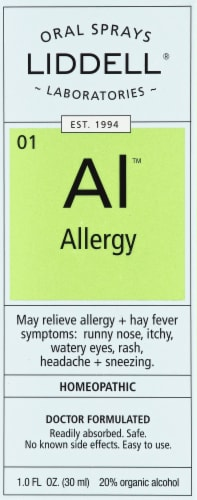 Liddell Laboratories Allergy Oral Spray Perspective: front