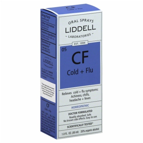 Liddell Laboratories Cold + Flu Oral Spray Perspective: front