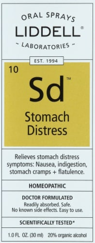 Liddell Laboratories Stomach Distress Oral Spray Perspective: front