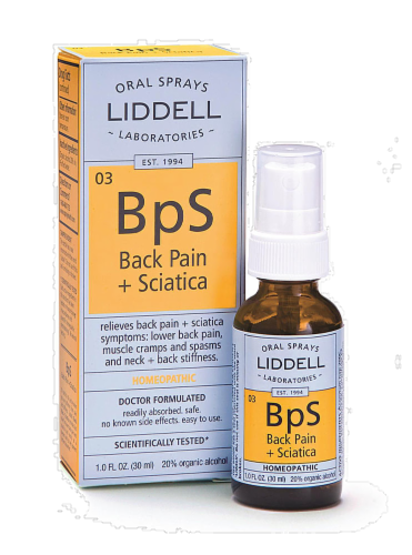 Liddell Laboratories Back Pain & Sciatica Spray Perspective: front