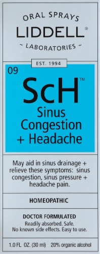 Liddell Laboratories Sinus Congestion & Headache Oral Spray Perspective: front