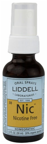 Liddell  Homeopathic Nicotine Free Spray Perspective: front