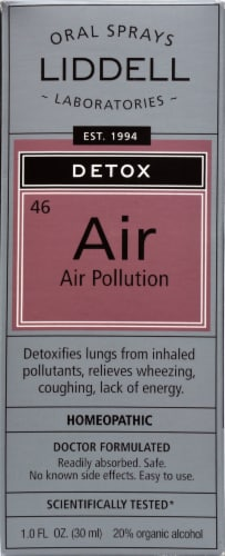 Liddell Laboratories Detox Air Pollution Oral Spray Perspective: front