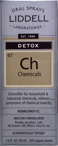 Liddell Laboratories Homeopathic Chemical Detox Spray Perspective: front