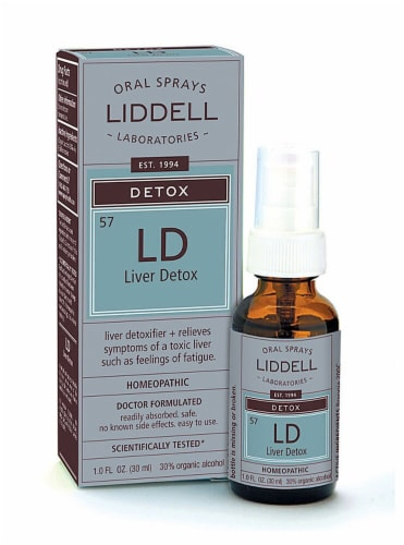 Liddell  Homeopathic Liver Detox Spray Perspective: front
