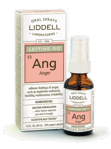 Liddell Laboratories Letting Go Anger Oral Spray Perspective: front