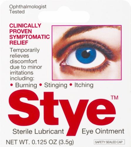 Stye Sterile Lubricant Eye Ointment Perspective: front