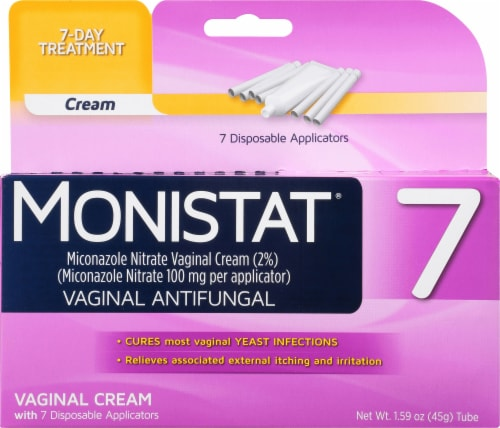 Monistat Simple Cure Vaginal Antifungal 7-Day Treatment Cream Perspective: front