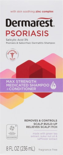 Dermarest Psoriasis Medicated Shampoo & Conditioner Perspective: front