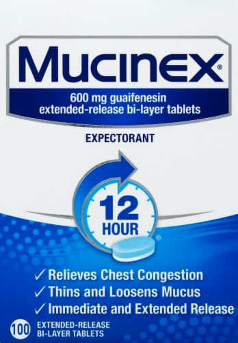 Mucinex 600mg Tablets Perspective: front