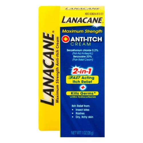 Lanacane Maximum Strength Anti-Itch Cream Perspective: front