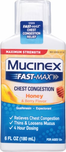 Mucinex FastMax Honey & Berry Flavor Chest Congestion Liquid Perspective: front