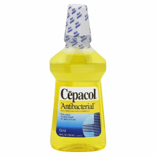 Cepacol Gold Antibacterial Mouthwash Perspective: front