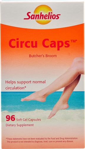 Sanhelios  Circu Caps with Butcher's Broom Dietary Supplement Perspective: front