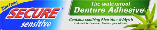 SECURE Denture Adhesive With Aloe Vera & Myrrh Perspective: front