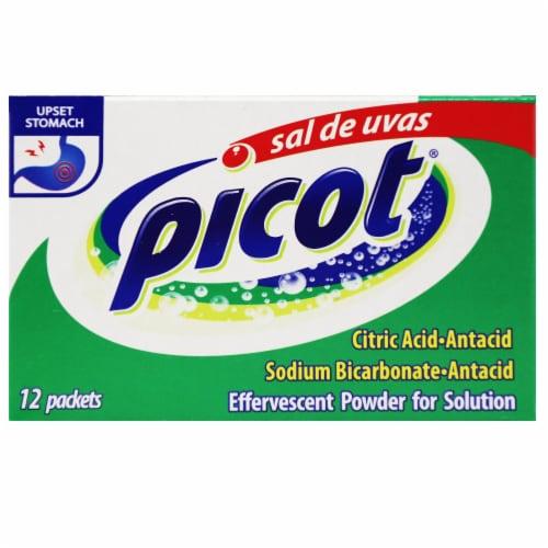 Sal De Uvas Picot Effervescent Powder 12 Count Perspective: front