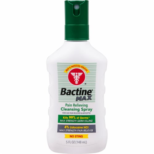 Bactine Max Pain Relieving Cleansing Spray Perspective: front