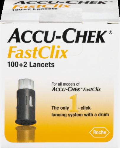 Accu-Chek FastClix Lancets 102 Count Perspective: front
